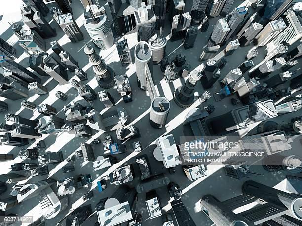 Urban sprawl, Illustration