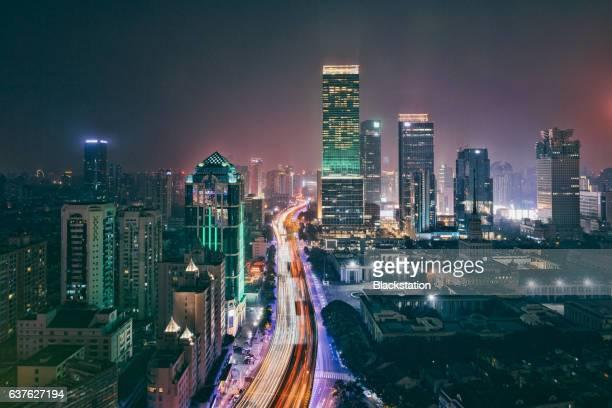 urban traffic arterial in shanghai - traffic stock illustrations