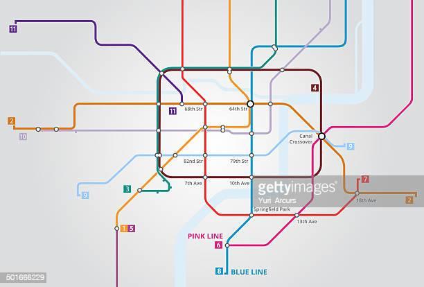 都会の地下 - 道点のイラスト素材/クリップアート素材/マンガ素材/アイコン素材
