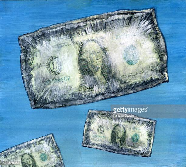 us dollar note - concept of rising prices - cash flow stock illustrations, clip art, cartoons, & icons