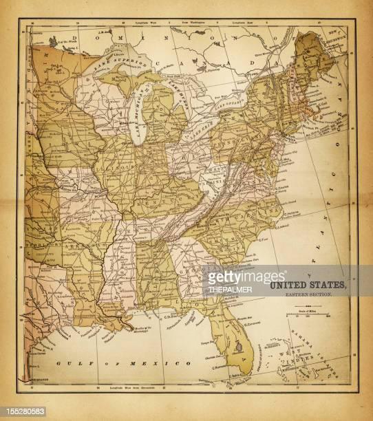 usa map 1884