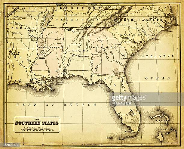 usa - southern states 1876 - southern usa stock illustrations, clip art, cartoons, & icons