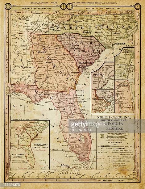 ilustrações, clipart, desenhos animados e ícones de eua-estados do sul 1884 - geórgia sul dos estados unidos