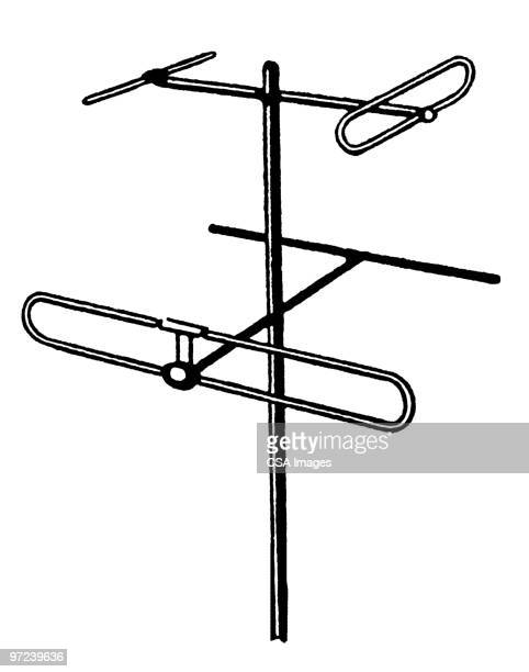 utility pole - antenna aerial stock illustrations, clip art, cartoons, & icons
