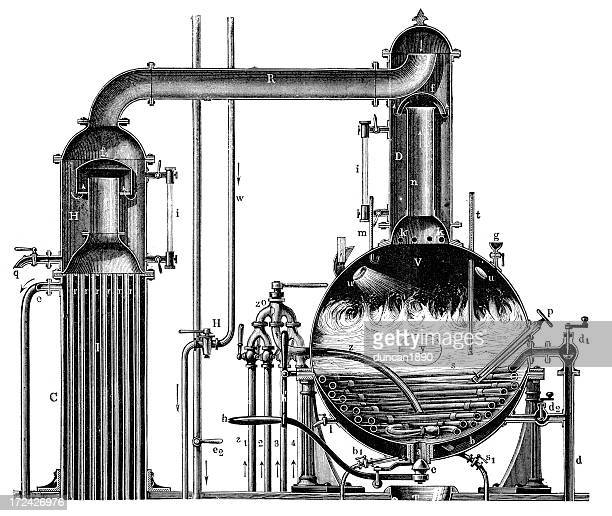 vacuum apparatus - boiler stock illustrations, clip art, cartoons, & icons