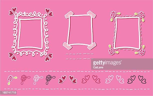 Valentine Doodle Frames