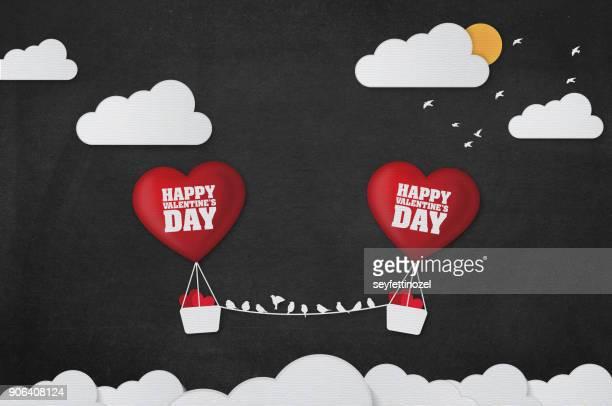 Valentines Day Balloon Background