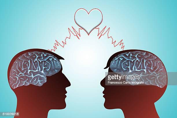 valentine's day - brief. loving telepathy - boyfriend stock illustrations, clip art, cartoons, & icons