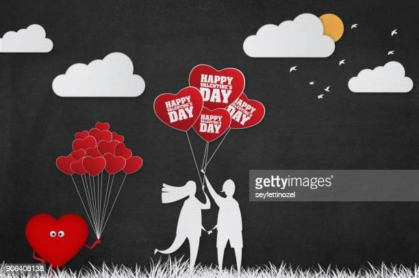 Valentines Day Heartshaped Balloon Background