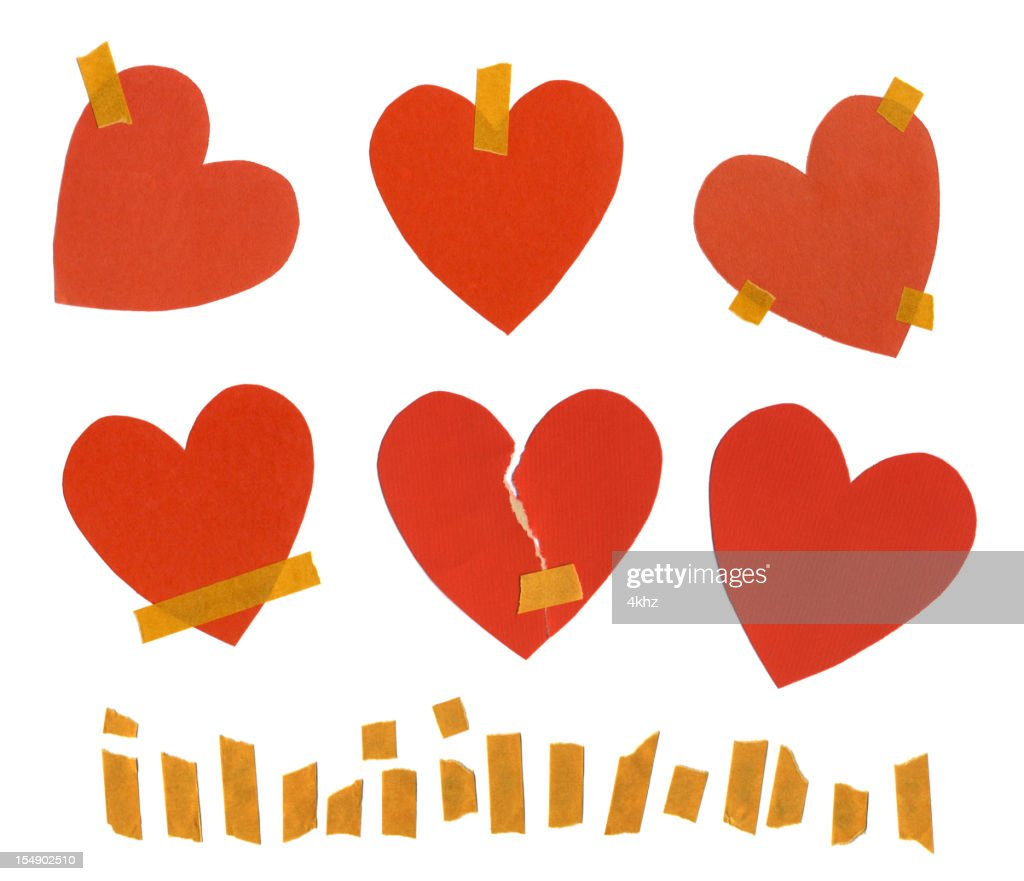 valentines day notes paper stock illustration