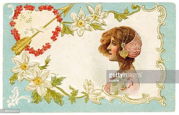 ilustraciones, imágenes clip art, dibujos animados e iconos de stock de san valentín tarjeta postal (xxxl - carta de amor