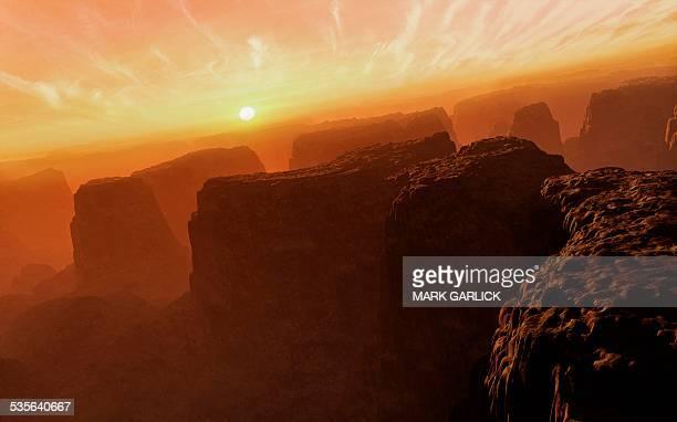 Valles Marineris at Sunset