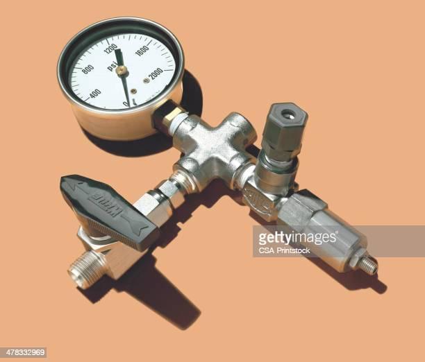 valve gauge - gas meter stock illustrations, clip art, cartoons, & icons