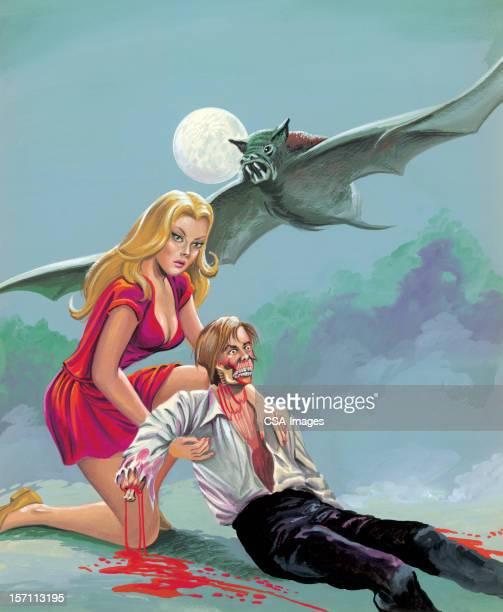 Vampire Bat Pursues Couple