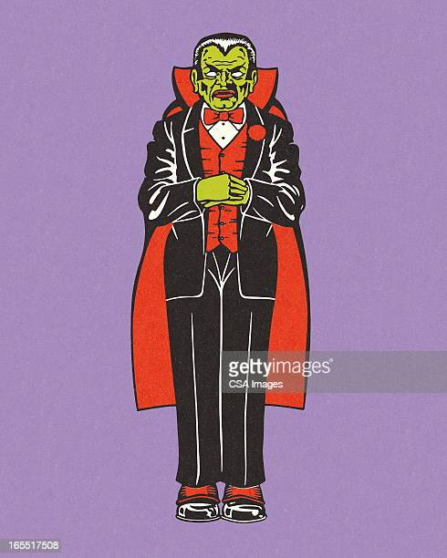 vampire on purple background - count dracula stock illustrations, clip art, cartoons, & icons