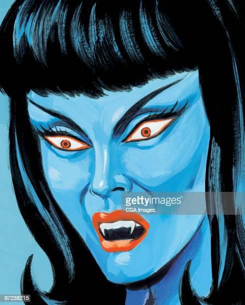 vampire woman - vampire stock illustrations, clip art, cartoons, & icons