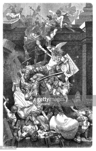 Vandals sacking the city of Rome in 455