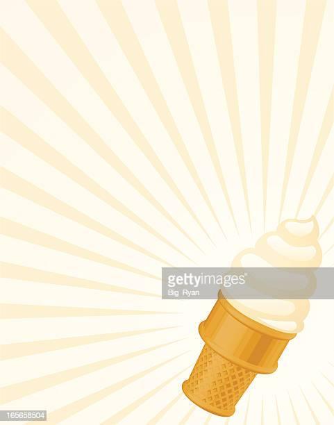 vanilla icecream cone