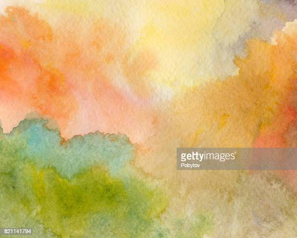 varicolored watercolor background