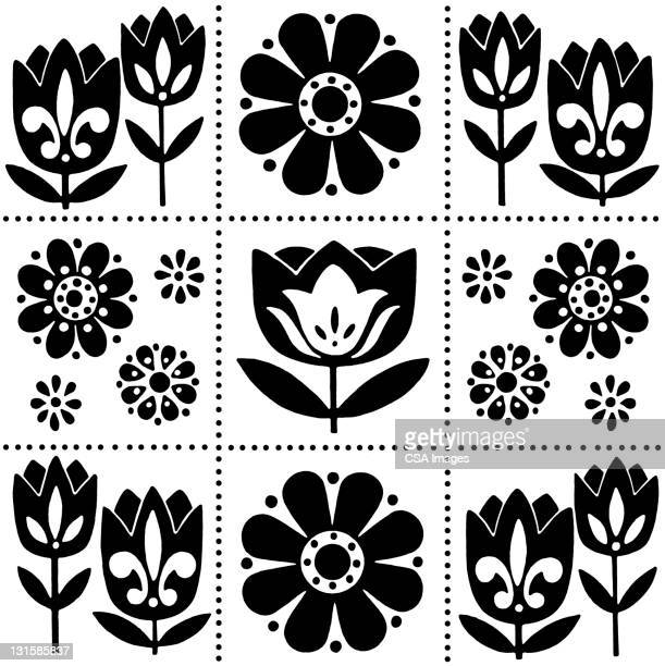 various flower pattern - floral pattern stock illustrations