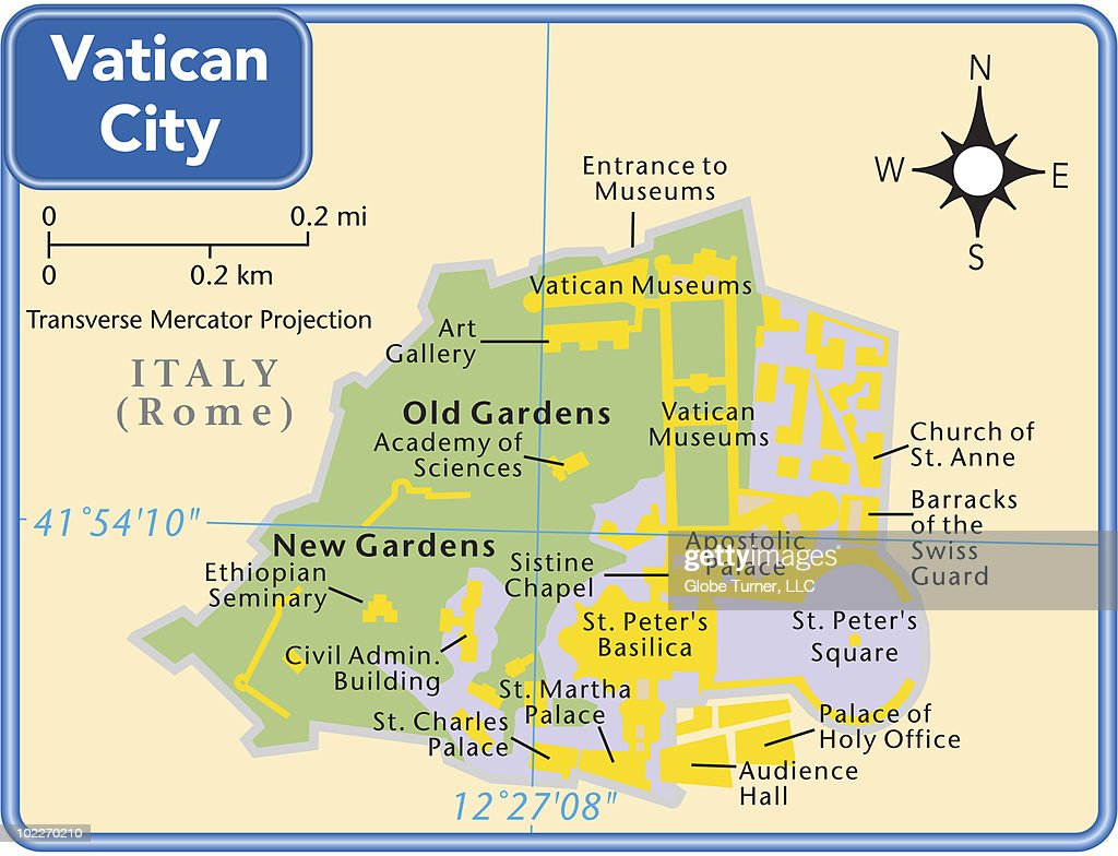 Vatican City Country Map Vector Art Getty Images