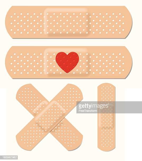 ilustrações, clipart, desenhos animados e ícones de vetor curativos adesivos. - primeiros socorros