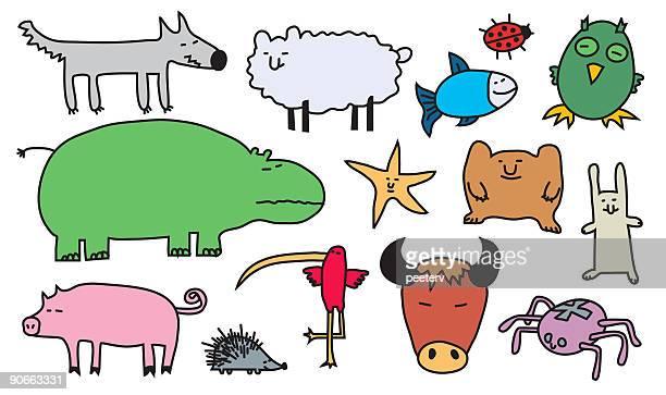 illustrations, cliparts, dessins animés et icônes de illustration animaux 3 - marabout