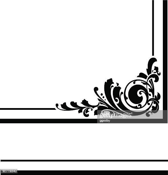 ilustrações, clipart, desenhos animados e ícones de vetor design de canto - moldura preta