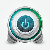 Vector designer power button