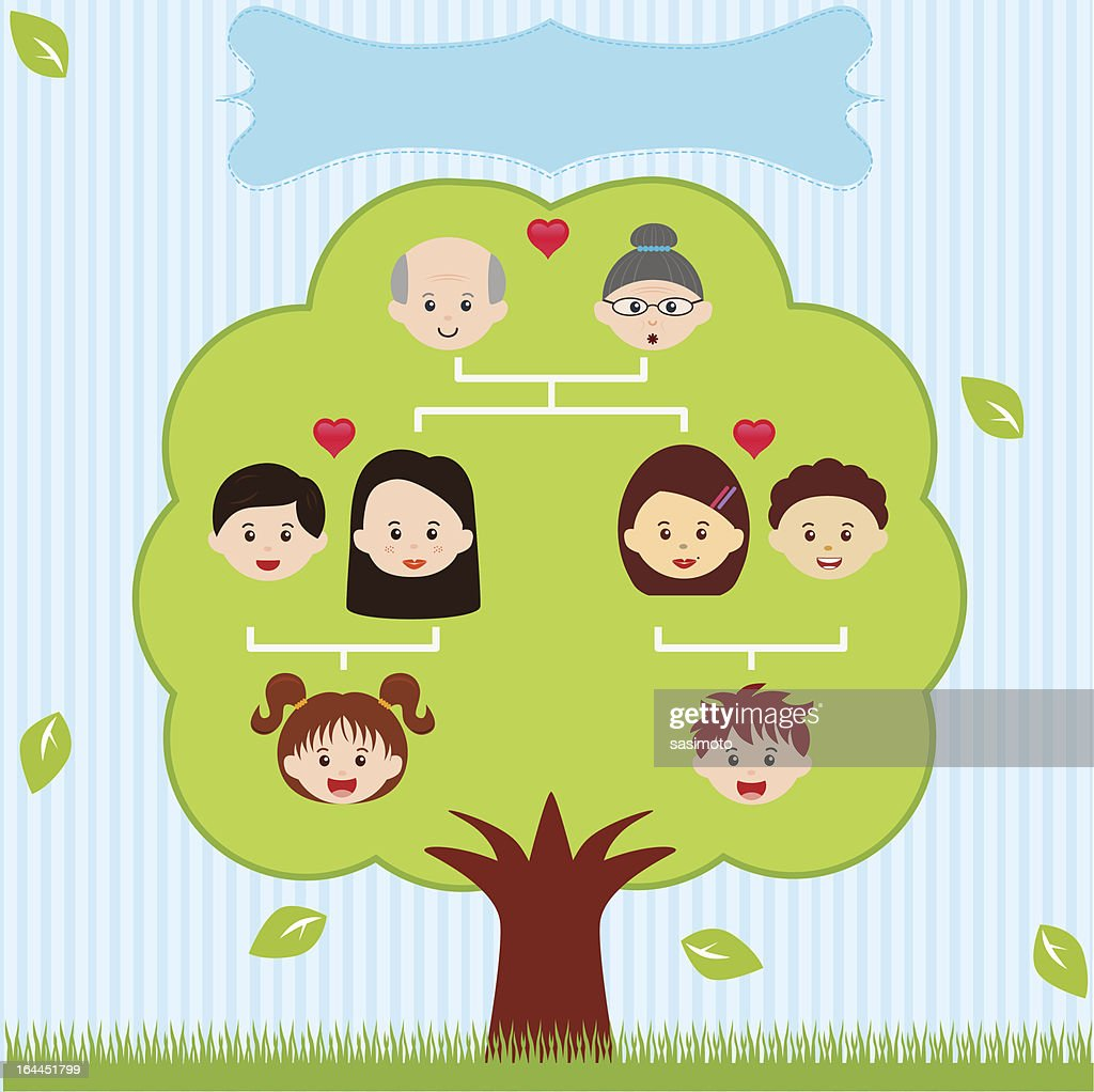 Vector Icons: Family Tree