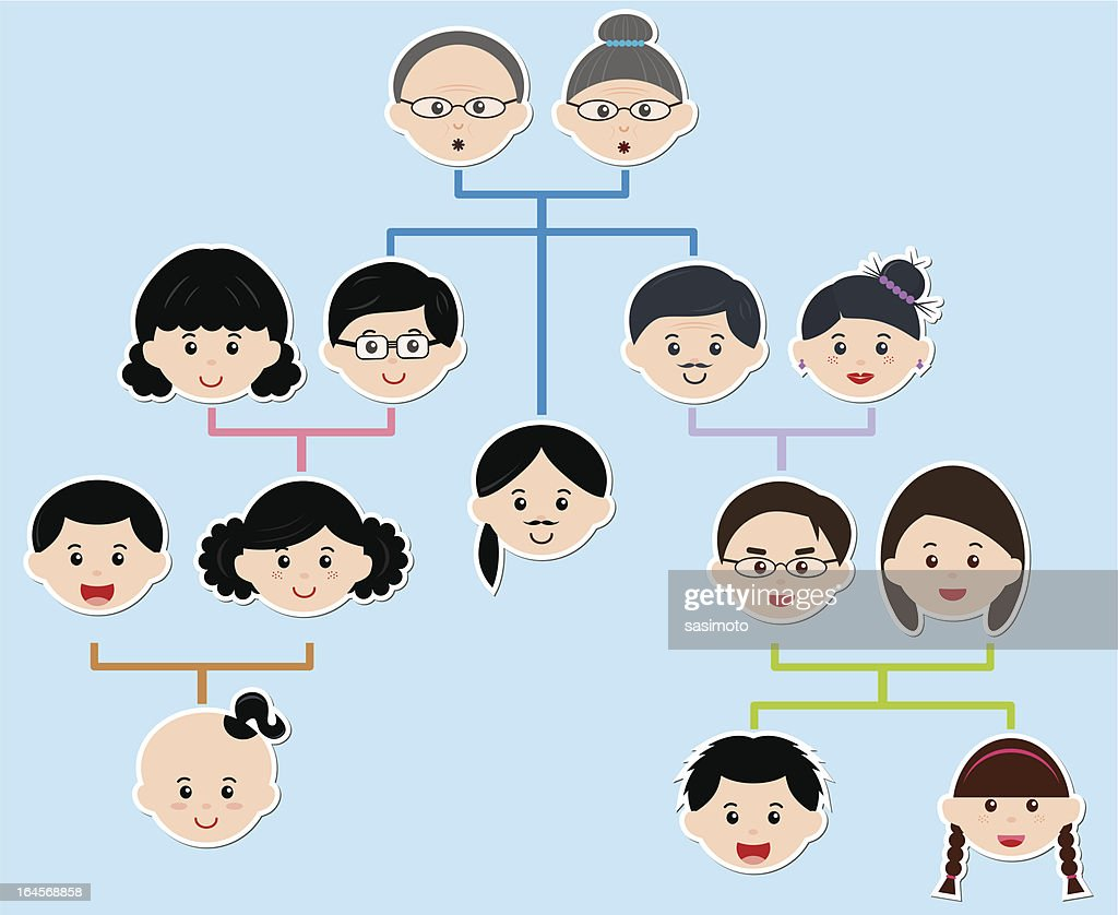 Vector Icons: Family Tree,