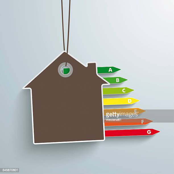 vector illustration, house and energy pass - energy efficient stock illustrations, clip art, cartoons, & icons