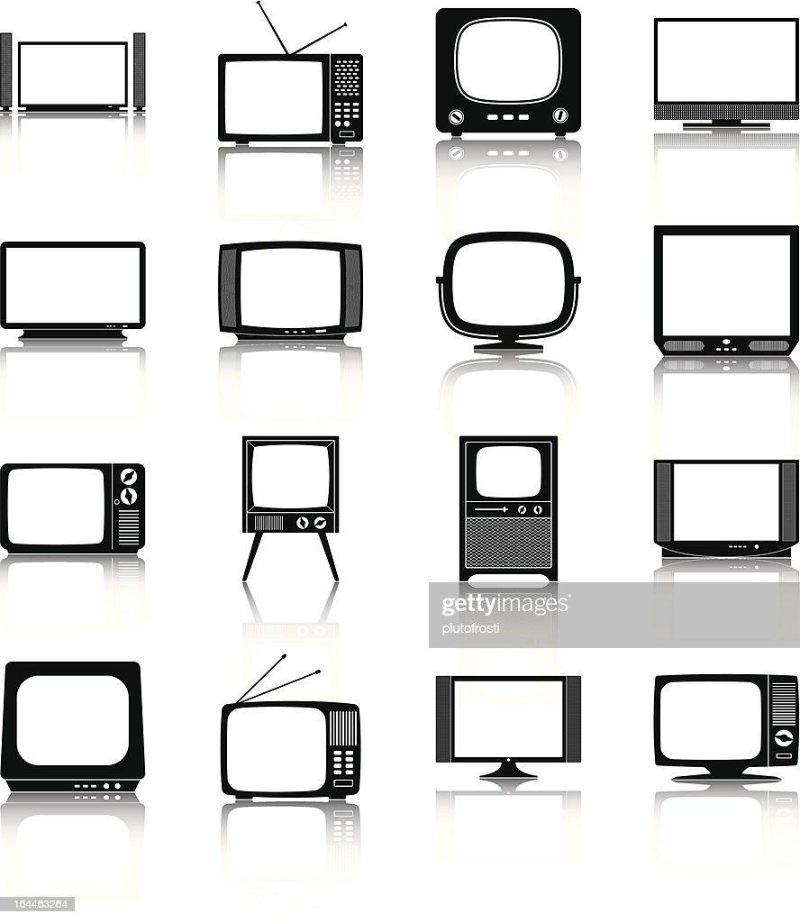 Vector illustration of television sets