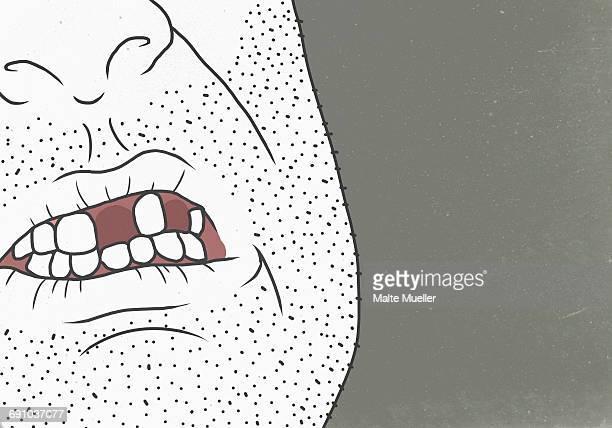 Vector image of man representing aging process