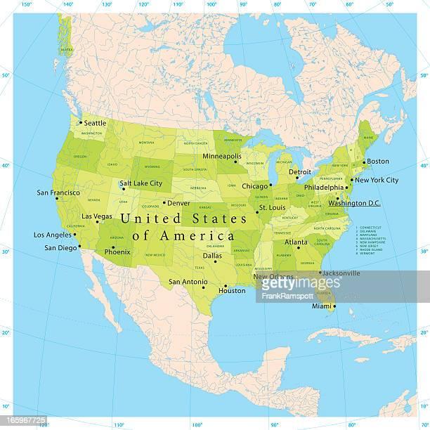 米国ベクトルマップ - 米メキシコ湾沿岸点のイラスト素材/クリップアート素材/マンガ素材/アイコン素材