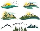 Vector Mountain Icons