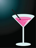 Vector Pink Cocktail