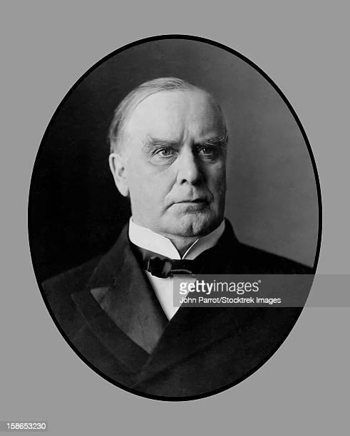 Vector portrait of President William McKinley, Jr.