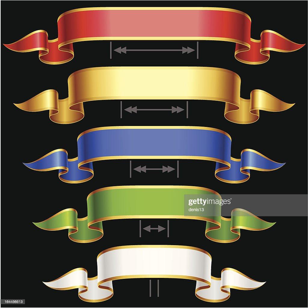 Vector Ribbon set with Adjusting length