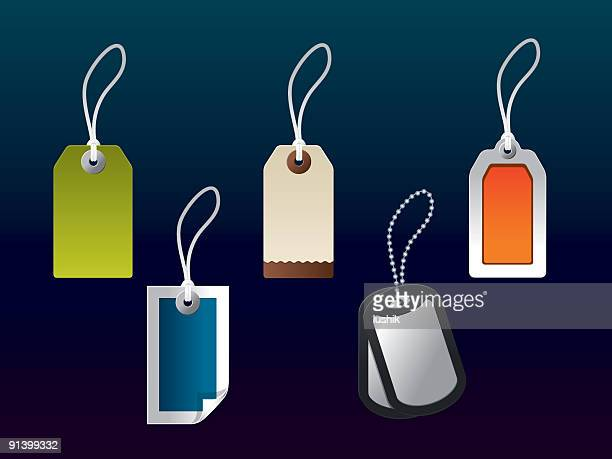 vector tag collection - luggage tag stock illustrations, clip art, cartoons, & icons