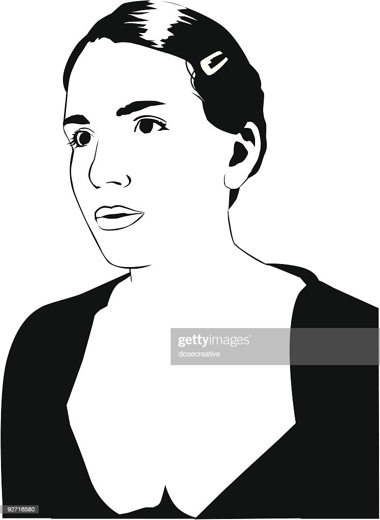 Vector Young Woman