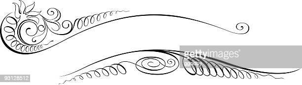 vectorized スクロールデザイン - clip art点のイラスト素材/クリップアート素材/マンガ素材/アイコン素材