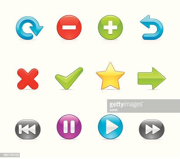 velvet icon - control button - plus sign stock illustrations, clip art, cartoons, & icons