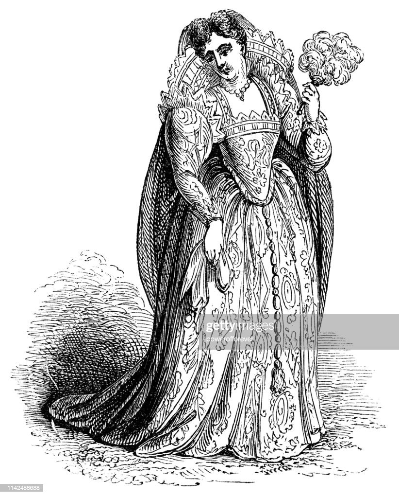 Venetian Lady's Fashion of the 16th Century : stock illustration