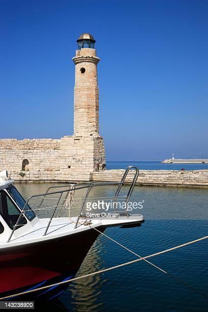 Venetian Lighthouse, Rethymnon, Crete, Greece