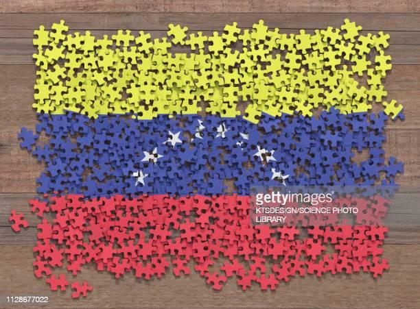 Venezuelan flag jigsaw puzzle, illustration