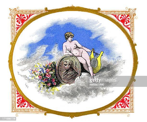 ilustraciones, imágenes clip art, dibujos animados e iconos de stock de venus y horace - roman goddess