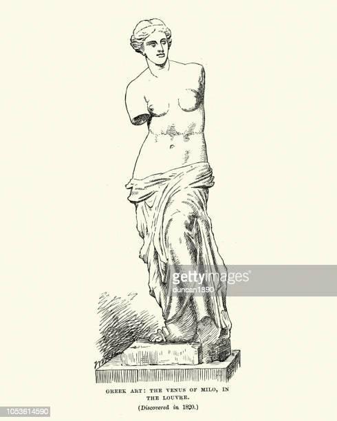 venus de milo - venus roman goddess stock illustrations, clip art, cartoons, & icons