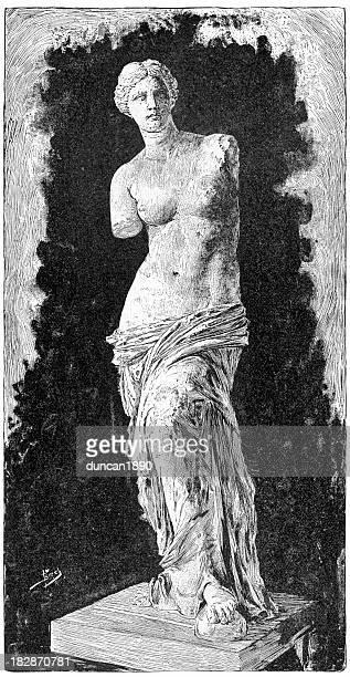 venus de milo - roman goddess stock illustrations, clip art, cartoons, & icons