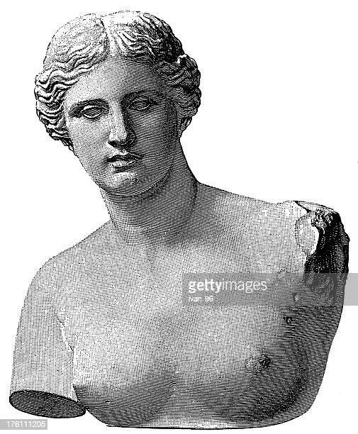 venus - classical greek style stock illustrations